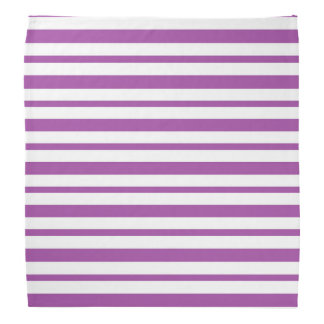 Thick and Thin  Purple and White Stripes Bandana