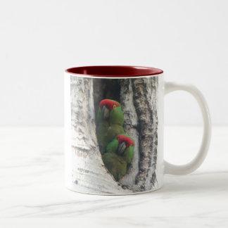 Thick-billed Parrot Mug, right-handled Two-Tone Coffee Mug