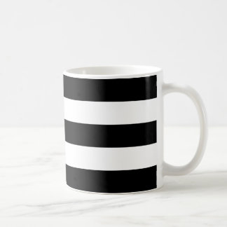 Thick Black Horizontal Stripes Mug