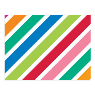Thick Candy Stripes Postcard