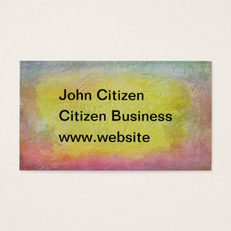 Thick pink, yellow and blue abstract texture business card