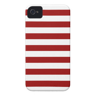 Thick Red and white lines, geometric pattern iPhone 4 Covers