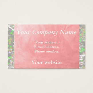 Thick Soapy Water 1256 Pink Business Card