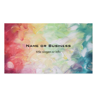 Thick Textured Abstract Paint Double-Sided Standard Business Cards (Pack Of 100)