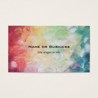 Thick Textured Abstract Paint Business Card