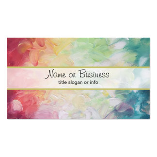 Thick Textured Abstract Paint Pack Of Standard Business Cards