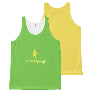 Thickaholic, Green & Yellow Tank Top
