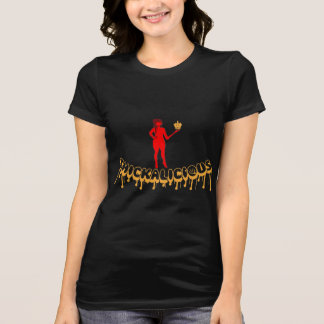Thickalicious, Black Gold & Red T-Shirt