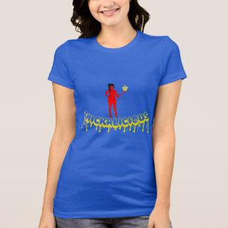 Thickalicious, Royal Blue & Yellow T-Shirt