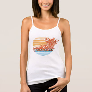 Thieves of Paradise Sunset Spaghetti Strap Tank