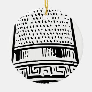 Thimble Ceramic Ornament