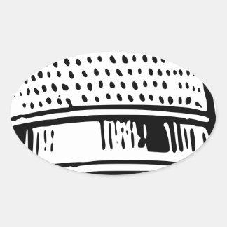 Thimble Oval Sticker