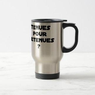 THIN BEHAVIOURS FOR HELD? - Word games Travel Mug