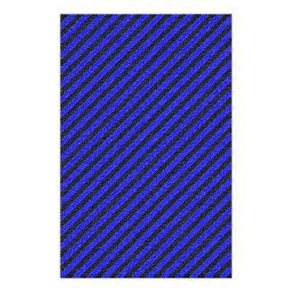Thin Black and Blue Diagonal Stripes 14 Cm X 21.5 Cm Flyer