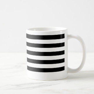 Thin Black Horizontal Stripes Mug