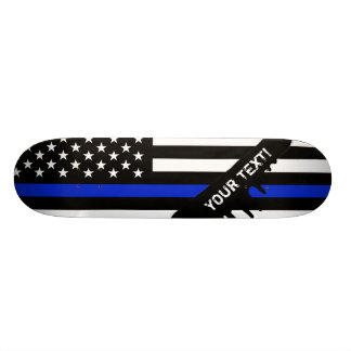 Thin Blue Line American Flag 21.6 Cm Old School Skateboard Deck