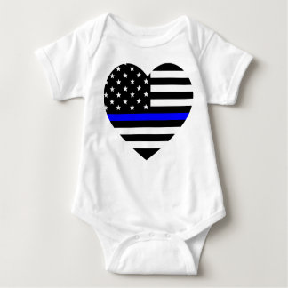Thin Blue Line - American Flag Baby Bodysuit