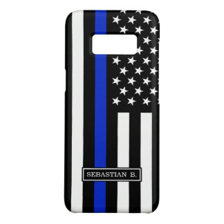 Thin Blue Line American Flag Case-Mate Samsung Galaxy S8 Case