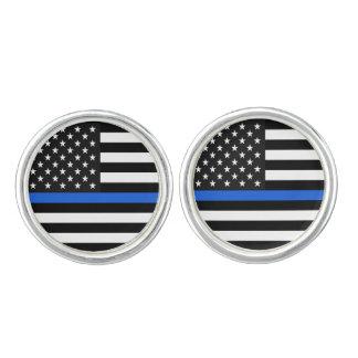 Thin Blue Line American Flag Cuff Links