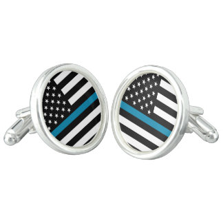 Thin Blue Line American Flag Cufflinks