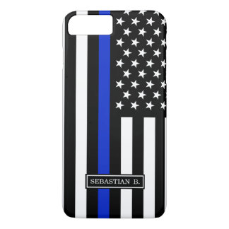 Thin Blue Line American Flag iPhone 8 Plus/7 Plus Case