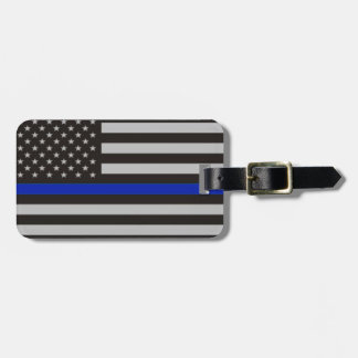 Thin Blue Line American Flag Luggage Tag