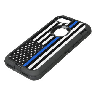 Thin Blue Line American Flag OtterBox Defender iPhone 8/7 Case
