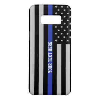Thin Blue Line - American Flag Personalised Custom Case-Mate Samsung Galaxy S8 Case