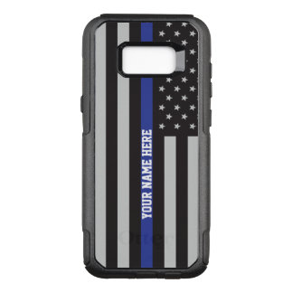 Thin Blue Line - American Flag Personalised Custom OtterBox Commuter Samsung Galaxy S8+ Case