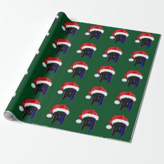 THIN BLUE LINE American Flag Spartan Santa Wrap