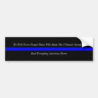 Thin Blue Line American Heros Car Bumper Sticker