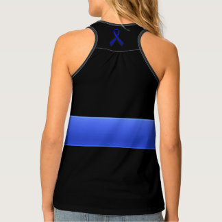 Thin Blue Line and Ribbon Singlet