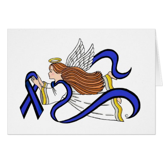 Thin Blue Line Angel Card