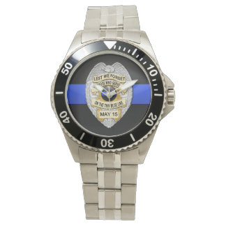 Thin Blue Line Badge Watch