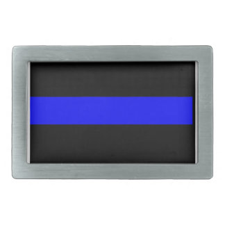 Thin Blue Line buckle Rectangular Belt Buckle