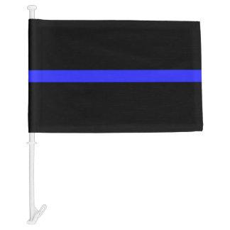 Thin Blue Line Car Flag