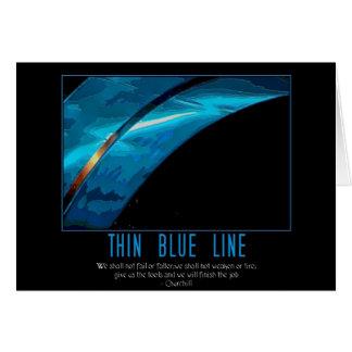 thin blue line card
