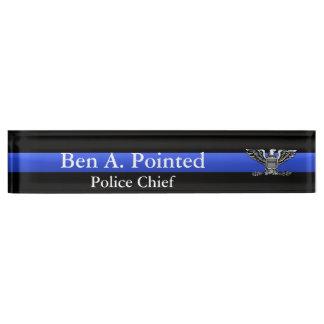 Thin Blue Line - Chief Full Bird Eagle Rank Name Plate