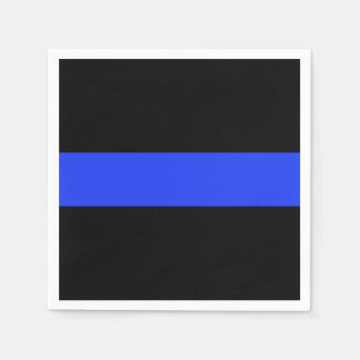 Thin Blue Line Cocktail Paper Napkin