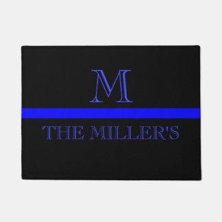 Thin blue line Custom Monogram Doormat