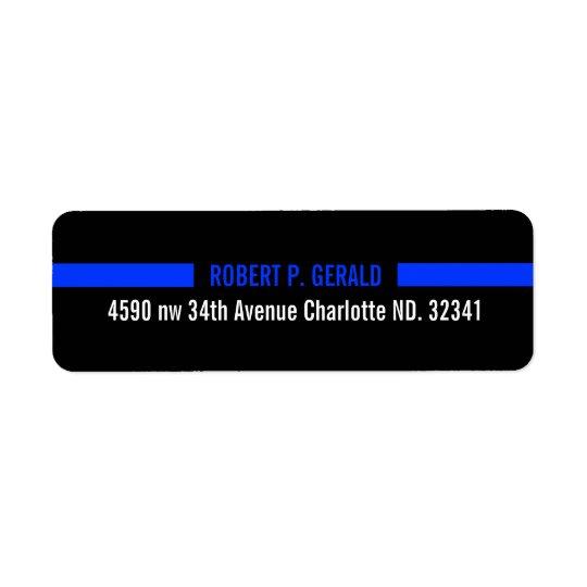 Thin Blue Line Custom Return Address Label