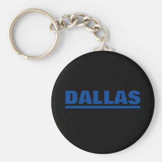 Thin Blue Line Dallas Basic Round Button Key Ring