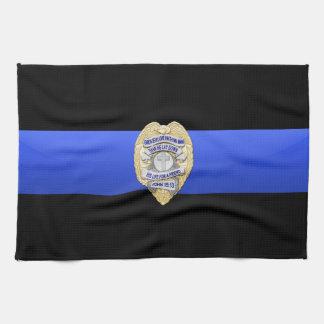 Thin Blue Line Flag & Badge Tea Towel