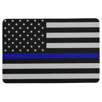 Thin Blue Line Flag Floor Mat