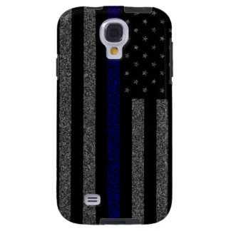 Thin Blue Line Flag Grunge Galaxy S4 Case
