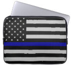 Thin Blue Line Flag Laptop Case