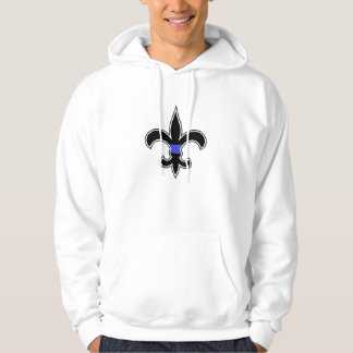 Thin Blue Line Fleur De Lis Hooded Sweatshirt