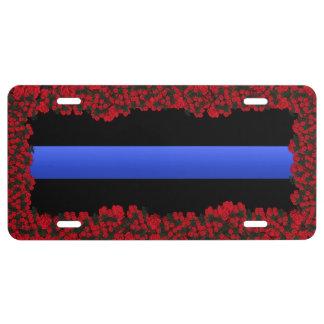 Thin Blue Line in Rose Garden License Plate