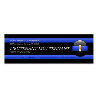 Thin Blue Line Lieutenant Custom Business Card