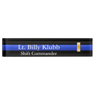 Thin Blue Line - Lieutenant Rank Name Plate